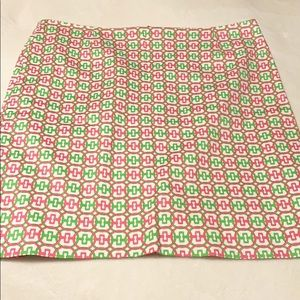 Melly M Pink and Green A-line Skirt